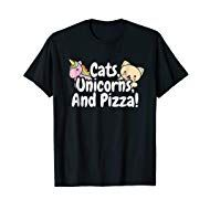 Cats, Unicorns, And Pizza! Funny Hobby Love T-Shirt Grilled Pizza Recipes, National Pet Day, Love T Shirt, Vegetarian Cheese, Unicorns, Cats, Funny, Mens Tops, Shirts