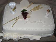 bolos decorados 1 comunhao - Pesquisa do Google Holy Communion Cakes, First Communion, Holi, Fondant, Desserts, Inspiration, Confirmation, Events, Weddings