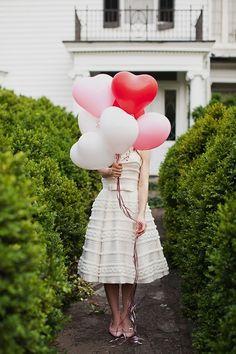Herz luftballons. So süss!
