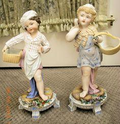Antique Bisque Dresden Figurines - Pair - Layaway