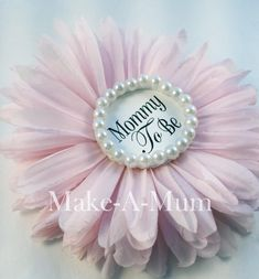"5"" Hand-dyed Peony Pink PIN, Baby Shower corsage, baby shower favors, Mommy To Be Pin, Pink Baby Girl, PEONY/pEARL/mTB"