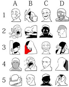 face Expressions for bad guy characters and others Drawing Techniques, Drawing Tips, Drawing Tutorials, Art Tutorials, Painting Tutorials, Art Memes, Memes Arte, Drawing Challenge, Art Challenge