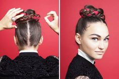16 Unconventional Ways to Accessorize Your Braids via Brit + Co