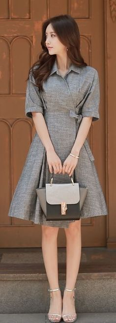 Luxe Asian Women Design Korean Model Fashion Style Dress Luxe Asian Women…... - Street Fashion