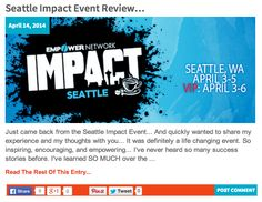 Seattle Impact Event Review... => http://katielendel.com/seattle-impact-event-review/