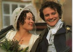 Elizabeth Darcy nee Bennet (Jennifer Ehle) and Mr. Fitzwilliam Darcy (Colin Firth) #PrideAndPrejudice (1995) #JaneAusten