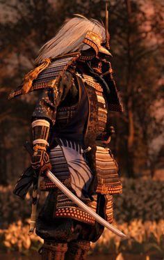 Fantasy Armor, Dark Fantasy Art, Japanese Culture, Japanese Art, Geisha, Samurai Warrior Tattoo, Martial, Samurai Wallpaper, Samurai Weapons