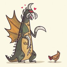 """""""Gigan by ~TheBeastIsBack on deviantART""""  omg two of my favorite things in one picture- Gigan and chickens!  /dies"""