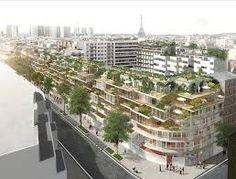 paris new residential building - Google Search Transformers, Paris Atelier, Metro Paris, Eco Green, Construction, Green Architecture, New Paris, Atrium, Multi Story Building
