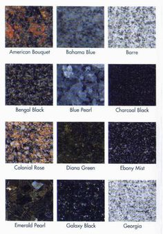 Detroit Granite Colors Available