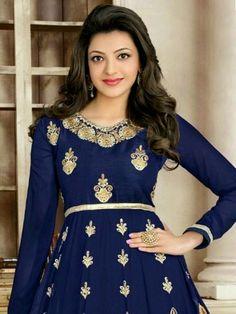 Beautiful Bollywood Actress, Most Beautiful Indian Actress, Indian Bollywood, Bollywood Fashion, Bollywood Actors, Kajal Agarwal Saree, Girl Fashion, Fashion Dresses, Fashion Beauty