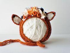 Flower Bonnet Floral Bonnet Garden Bonnet Fax by FashionTouch Crochet Baby Clothes, Newborn Crochet, Crochet Baby Hats, Baby Knitting, Crochet Hat For Women, Crochet Fall, Flower Crochet, Baby Dress Tutorials, Bonnet Crochet