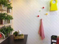 Colocación estilo Espiga. Etnia Blanco 10x20 cm. | Wall tile