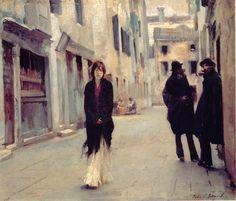 John Singer Sargent: Street in Venice (1882)