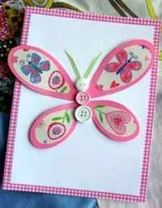 How to Make Butterfly Crafts       perfect for an little girls birthday party invitation