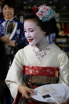 Maiko Katsuya during Gion festival