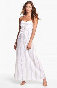 Tommy Bahama Marina Stripe Bandeau Cover-Up Dress White Beach Taupe Large.jpg