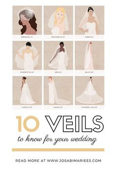 Wedding Veil Lengths: A Complete Guide To Find The Right Length For Your Dress! Read more here! #WeddingDress #CustomWeddingDress #WeddingPlanning #WeddingVeilLengths #Weddings
