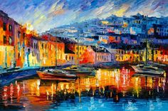 2017 Unframed Prints Russian Federation Color Oil Painting Venice Ship Architecture Flower Street Lamp Umbrella Tram River Building From Lovepainting, $13.92 | Dhgate.Com