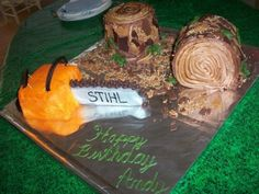 Chainsaw Cake For A Logger Man