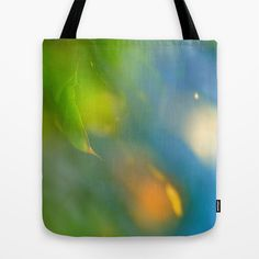 Bright leaves Tote Bag by Guido Montañés - $22.00