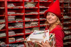 Letters arrives to Santa Claus Main Post Office in Rovaniemi in Lapland