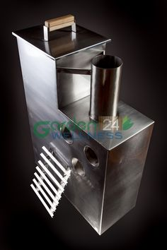 Stainless steel internal wood burning hot tub heater #hottub #heater #woodburning