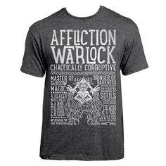 World of Warcraft Class Specialization / Roleplaying / Fantasy Inspired T-shirt - Affliction Warlock - Clothing, Art Prints and Posters Available now! #worldofwarcraft #wowwarlock #afflictionwarlock #worldofwarcraftwarlock #warcraftart #warlockart #realmone #realmonestore #rpgclass #warlocktshirt #worldofwarcrafttshirt #worldofwarcrafttee