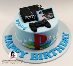 Playstation Design Fondant Cake Lisa Johnson Birthday Party Ideas