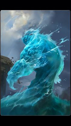 Water elemental | NOT OUR ART - Please click artwork for source | WRITING INSPIRATION for Dungeons and Dragons DND Pathfinder PFRPG Warhammer 40k Star Wars Shadowrun Call of Cthulhu and other d20 roleplaying fantasy science fiction scifi horror location equipment monster character game design | Create your own RPG Books w/ www.rpgbard.com