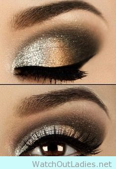 Copper and Gold eye make up for brown eyes - watchoutladies.net