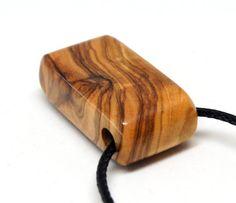Wooden pendant Olive wood  Oil Finish by MASSIVART on Etsy