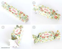 Candy Wrapper Box Tutorial made with the Silhouette