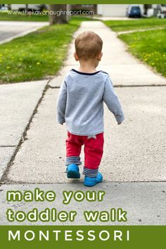 Montessori tips for walking with a 1-year-old. This fun, easy activity is perfect for getting outside with your toddler. Montessori Toddler, Maria Montessori, Montessori Activities, Toddler Activities, Two Year Olds, 1 Year, Running Ahead, Maximum Effort, Thing 1