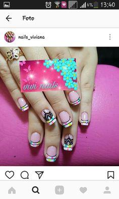 Sexy, Amor, Floral Nail Art, Short Nails, Nail Designs, Fingernail Designs, Mandalas
