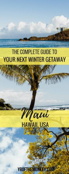 This is your complete travel guide to Maui, Hawaii, USA for that perfect winter vacation. Read this guide for tips on hotels, dining, major Maui attractions and a secluded beach for that perfect sunset. Pin it to your winter destinations guide or USA trav