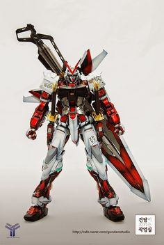 MG Gundam Astray Red Frame - Customized Build Modeled by Gundam Studio Astray Red Frame, Japanese Robot, Gundam Astray, Custom Paint Jobs, Gundam Model, Mobile Suit, Plastic Models, Naruto, Guys