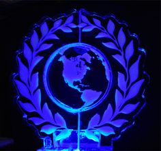 Earth in Wreath Ice Carving