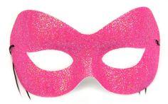 Fashion Glitter Hot Pink Mask