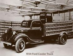 Coca-Cola delivery trucks 1930 – 1940s Coca-Cola 1934 Ford Cooler ...