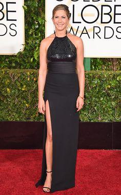 Jennifer Aniston is beautiful in black in this Saint Laurent stunner!