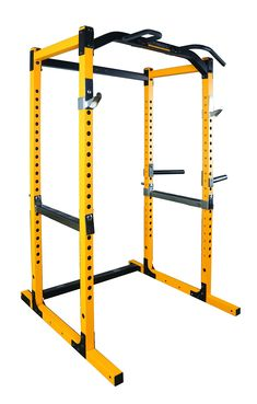 Powertec Fitness Work Bench Power Rack Yellow * Find out more at the photo link. (This is an affiliate link). Gym Rack, Olympic Weight Set, Dip Bar, Hanging Leg Raises, Pull Up Bar, Power Rack, Bench Press, At Home Gym, Industrial Design