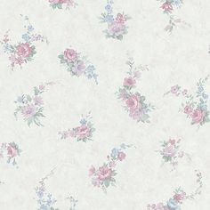988-58638 Purple Floral Toss - Carmen - Mirage Wallpaper