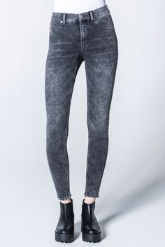 Cheap Monday Image 1 of High Spray Gravel Jeans in Gravel
