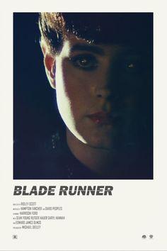 BROTHERTEDD.COM - theandrewkwan: Blade Runner alternative movie... Minimal Movie Posters, Cinema Posters, Daryl Hannah, Movie Prints, Poster Prints, Blade Runner Poster, Blade Runner Art, Sean Young, Tv Movie