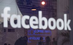 "The ""Facebook""-logo is pictured on the sidelines of a press preview of the so-called ""Facebook Innovation Hub"" in Berlin on February 24, 2016. / AFP / TOBIAS SCHWARZ"