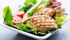Chicken Salad - chicken breast, lime juice, garlic cloves, chilies, olive oil, salt & pepper to taste - Strict Candida Diet