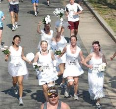to enter just a run I have to have fun and that means a theme! I would get such a kick out of dressing as a runaway bride!