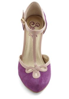 Seychelles All Dressed Up Heel in Plum | Mod Retro Vintage Heels | ModCloth.com