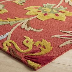 Cathe Jacobean Floral Red